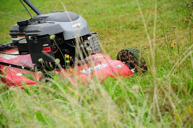mulched mower grass clippings improve clay soil